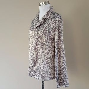Sleep Shirt Leopard Grey Gray Medium